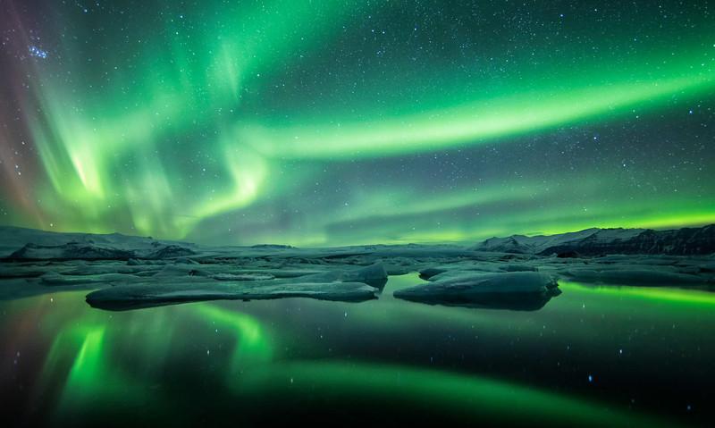 astroturismo Jokulsárlón en Islandia