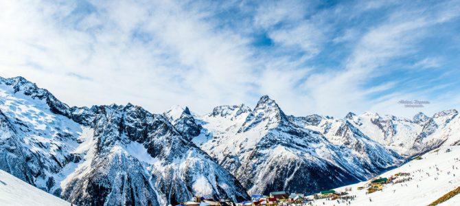 Dombay esquiar en rusia