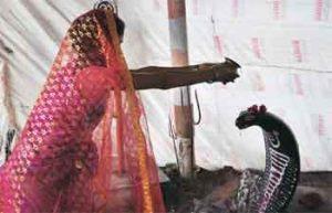 Mujer india se casa con serpiente en 2006