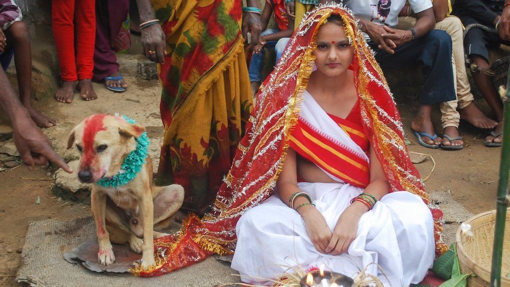 Chica de 19 años casa en 2003 con un perro