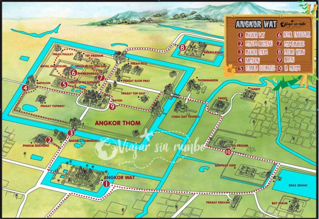 Mapa angkor wat - angkor wat map