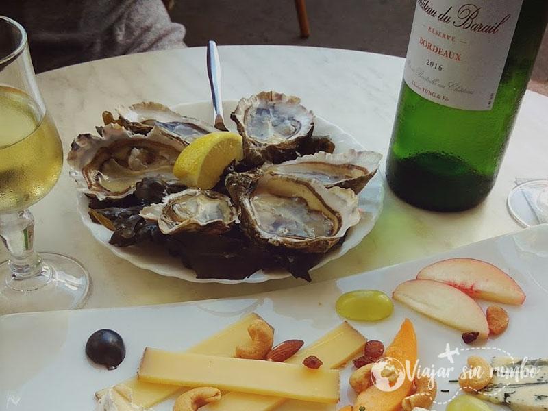 comer ostras en burdeos
