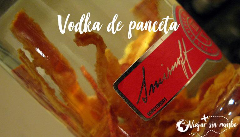 vodka con bacon o panceta