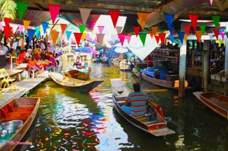 Taling Chan mercado flotante bangkok