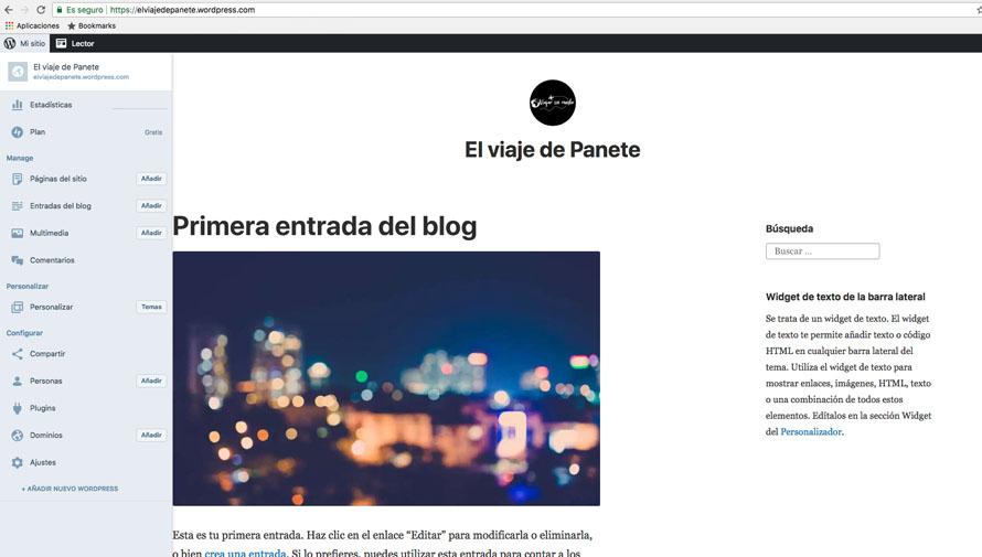 como crear blog de viajes