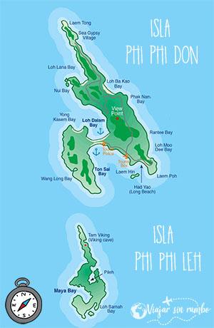 mapa phiphi tailandia