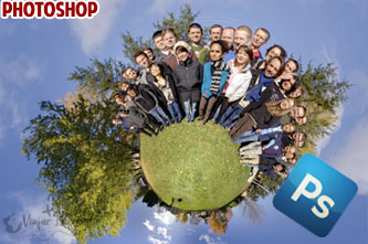 photoshop little planet efecto