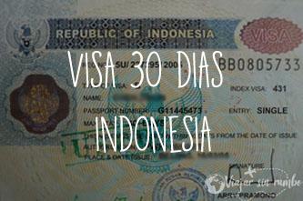 visa 30 dias indonesia