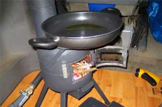 estufa de leña para furgoneta