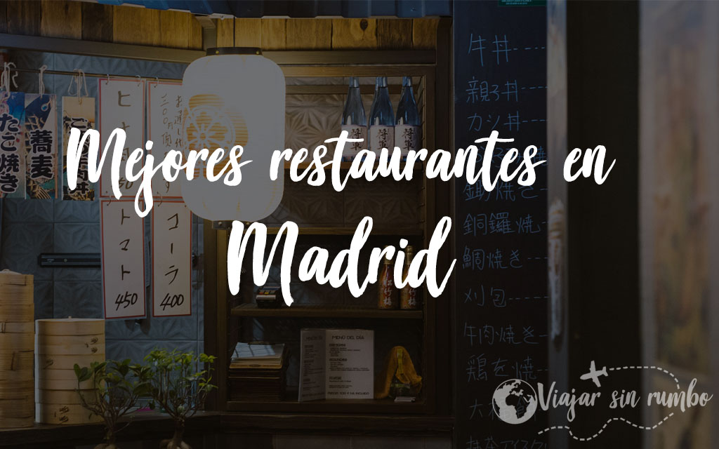 restaurantes madrid