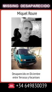 Miquel Roure desaparecido