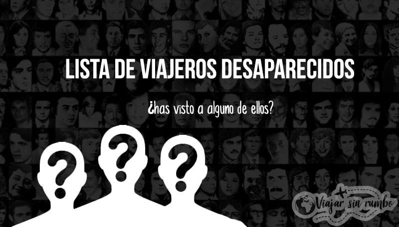 viajeros desaparecidos