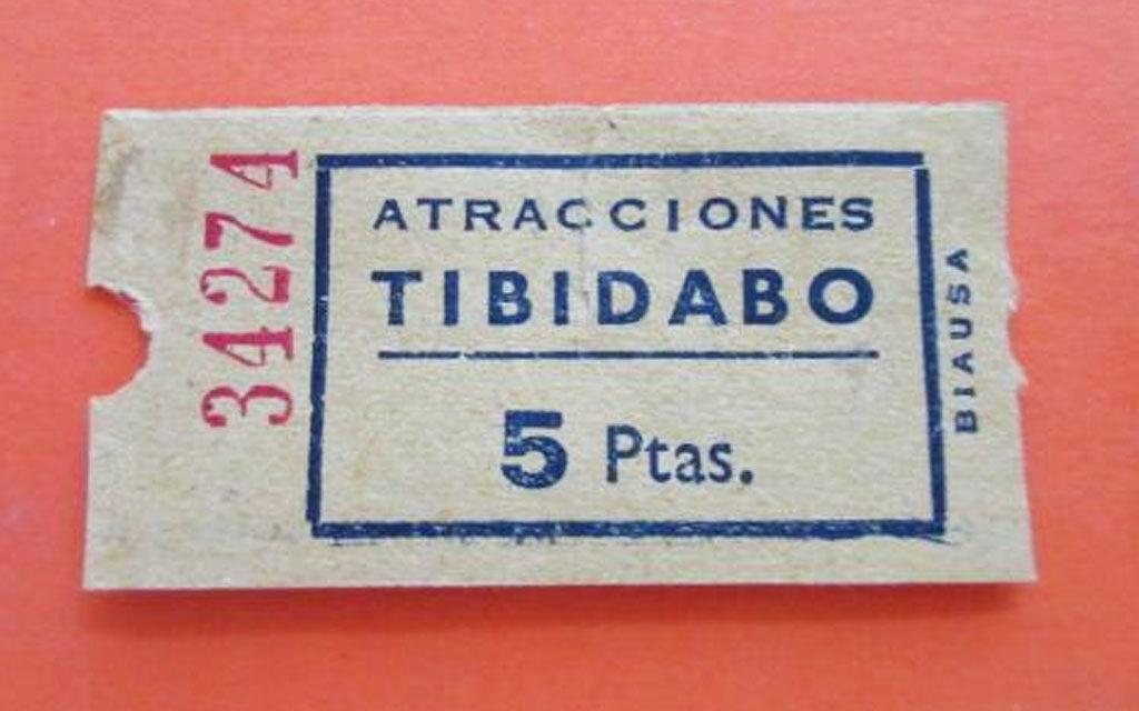 entrada antigua del Tibidabo
