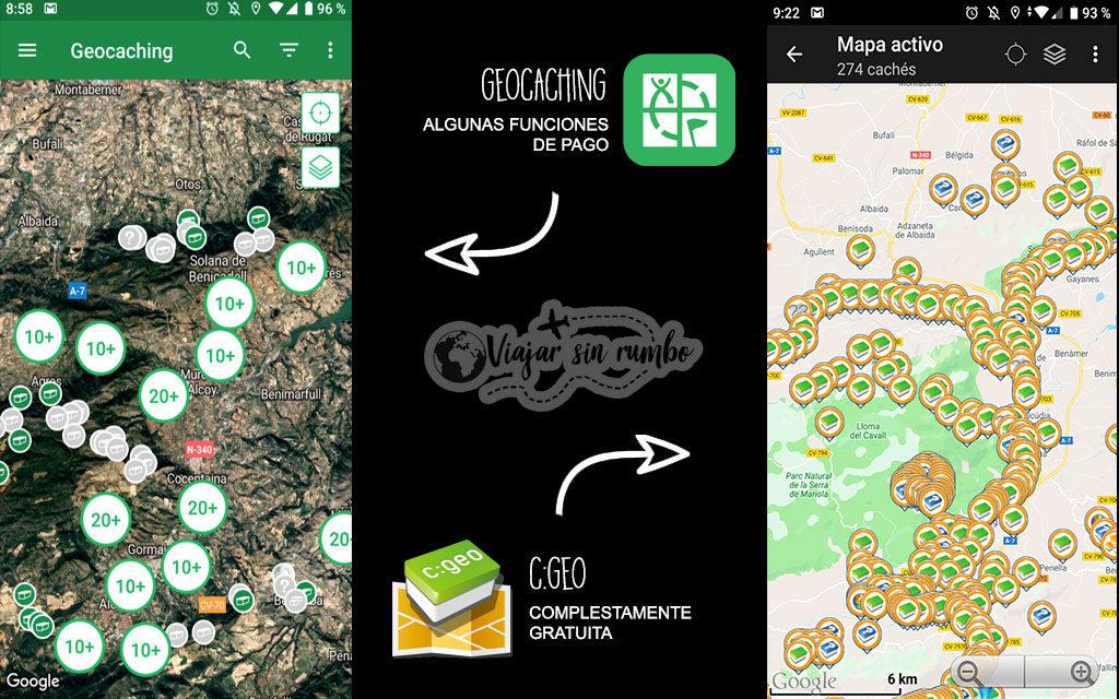 aplicacion geocaching