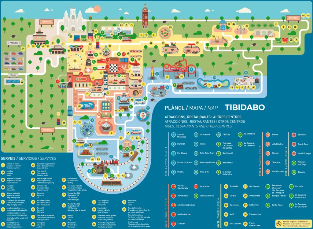 mapa Tibidabo