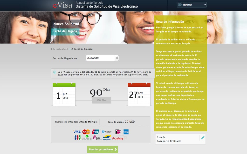 visa online Turquia