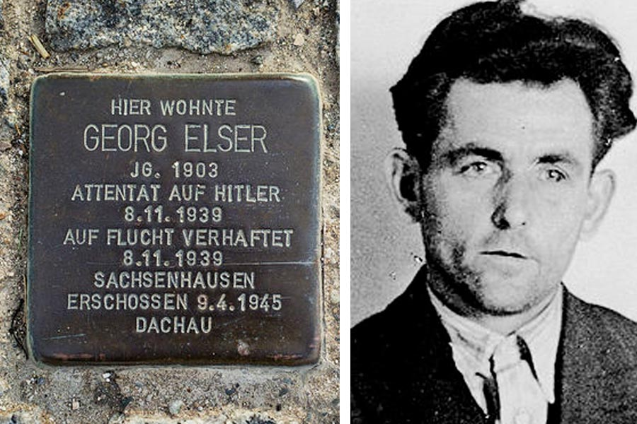 Georg Elser placa atentado Hitler