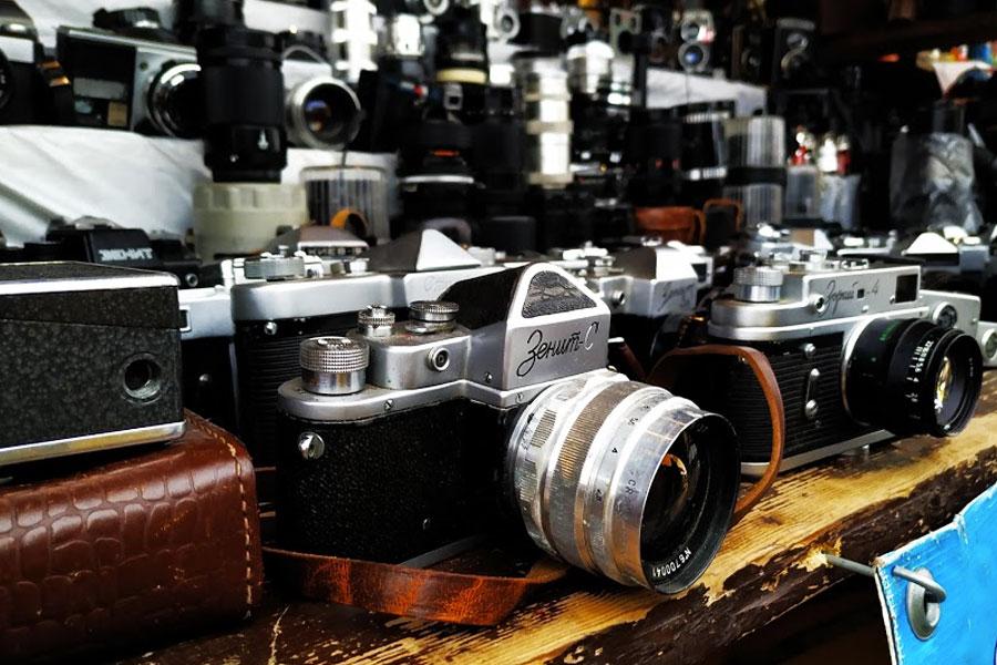 camaras vintage izmailovo moscu rusia