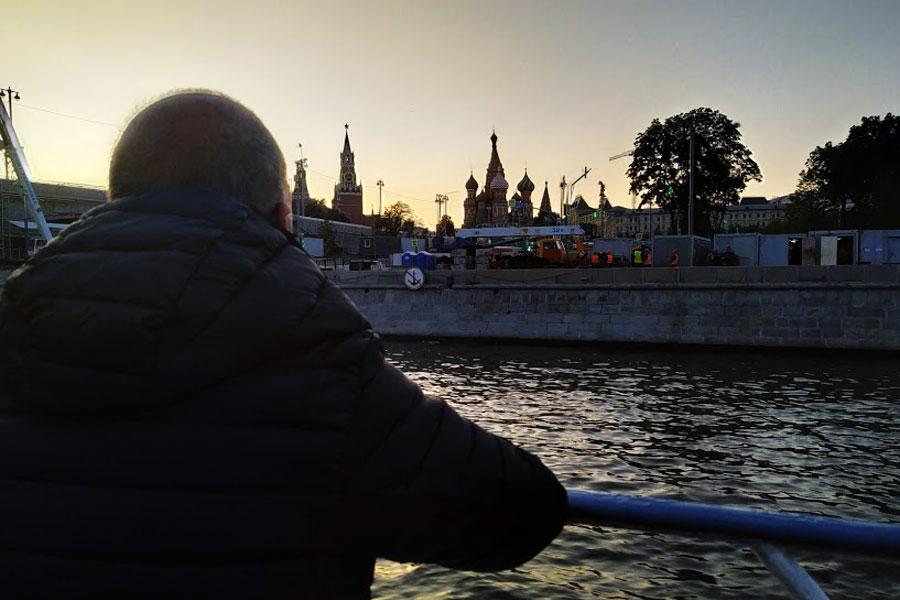 Paseo en barco Moscú vistas