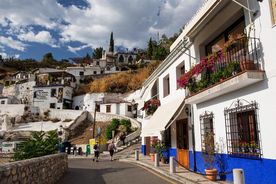 Barrio del Sacromonte en Granada