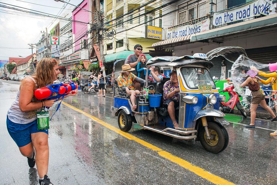 Songkran Fiesta del Agua Chiang Mai