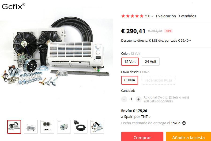 aire acondicionado compresor 12v
