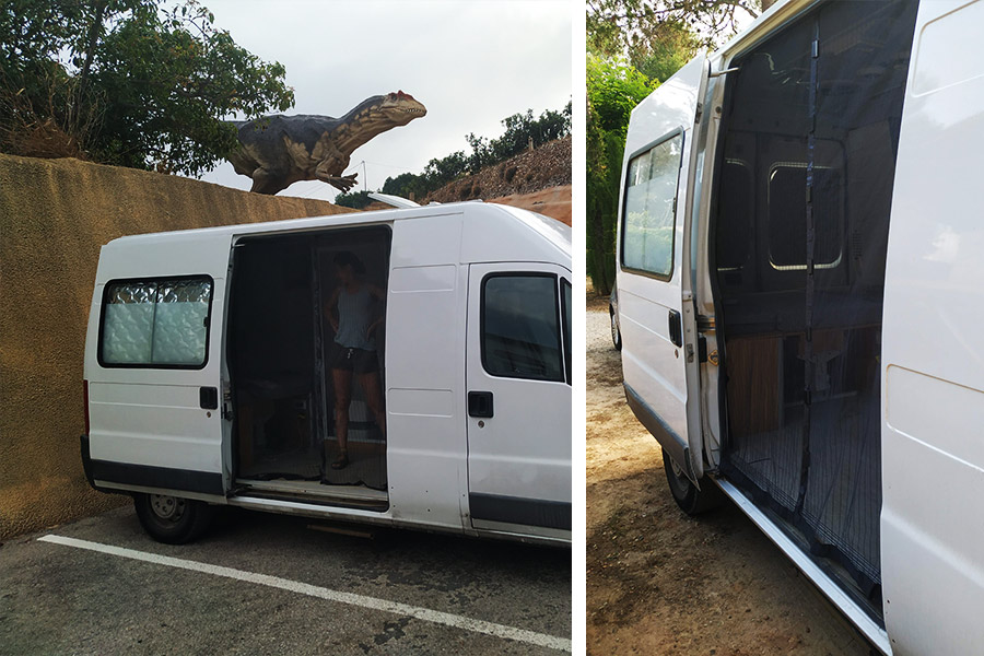 mosquitera furgoneta camper