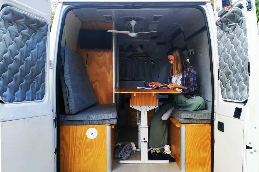 ventilador de techo furgoneta